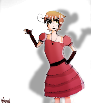 Romano in a Dress by YaoiMeowmaster