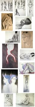 Figure Drawing Compilation by graceia