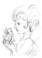 my first fairy illustration 'sketch' by Otto-Chrissi