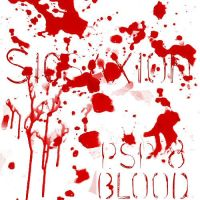 psp 8 brushes-blood-Sicsaxion by digital-amphetamine