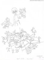 The Pagemaster production drawing by AnimationValley