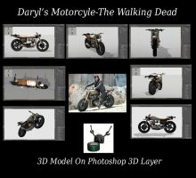 Daryl's Motorcycle The Walking Dead 3D Model by ArthurRamsey