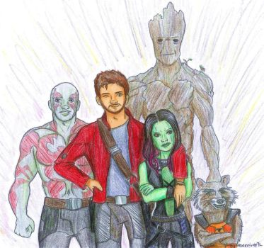 Guardians of the Galaxy by MoonriverJL
