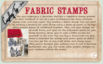 Cosplay Tip 34 - Fabric Stamps by Bllacksheep
