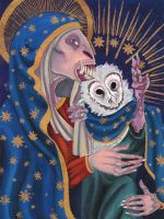 Madonna and Child by wolfborne