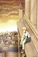 Roxas - Clock Tower by Shizunette