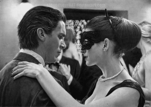 Christian Bale and Anne Hathaway by stonedsour887