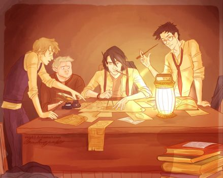 the making of the marauders map by viria13
