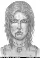 Lara Croft Fighter drawing by AndRay-BF