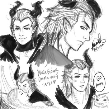Genderbend Maleficent sketch (contains spoiler) by kiseki009