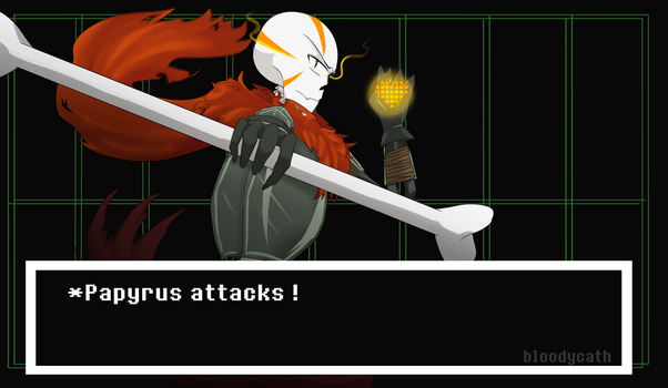 Royal Guard Papyrus-  GZTALE by BloodyCath