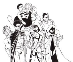 Current Teen Titans by chamzi