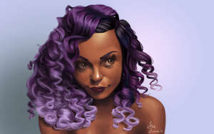 The Girl With Purple Curls by Thatonegirludontknow