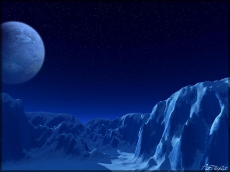 The Frozen Moon. by PatTheRat
