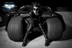 Catwoman and The Tumbler by LanaMarieLive