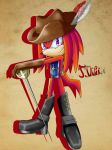 Knuckles as a Musketeer by TothViki