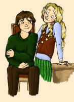 Neville and Luna by MioneBookworm