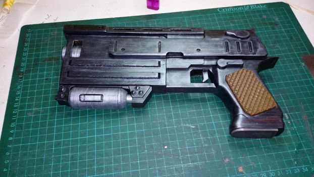 Fallout 3 10mm Pistol LHS by atrum-lupus