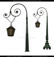 Street Lamp Cut Out 5 by ManicHysteriaStock