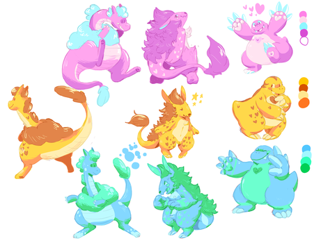 Monster color swaps! by Ropnolc