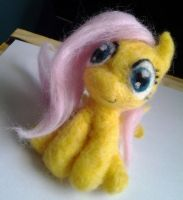 Felted Fluttershy by Imaplatypus