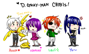 D.Gray-man CHIBI Exorcists! by Pauline-chan02