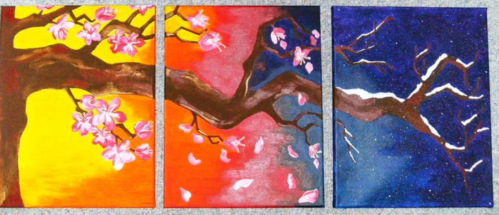 Blosson Tree Triptych by ToniTiger415