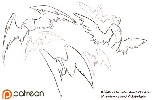 Wings Reference Sheet by Kibbitzer
