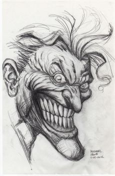 Joker after Finch Rough Sketch 11-25-2012 by myconius