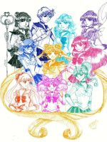 A Spectrum of Sailor Senshi by thelettergii