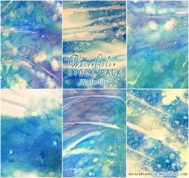 Waterlily - WATERCOLOR STOCK PACK by AuroraWienhold