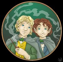 merry and pippin by Izabella