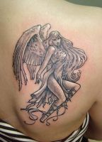 Angel tattoo by primitive-art
