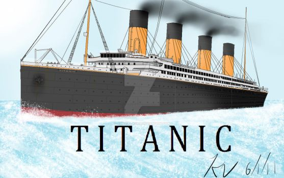 Titanic out to sea by Admiral-Kevin