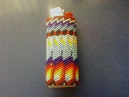 peyote stitched lighter case by hhairball9