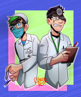 Dr. Schne-something and Dr Iplier!! by xOtakuStarx