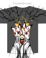 Japanese Mask T shirt design by yuumei