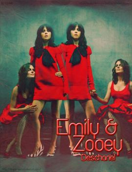 Emily and Zooey Deschanel by cookie-lalala