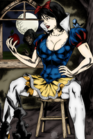 Snow White Pinup by Blackmoonrose13