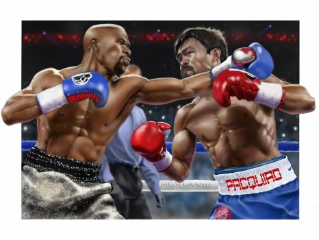Mayweather vs Pacquiao by Michael-Goglia