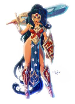 Ame-Comi, Wonder Woman by eDufRancisco