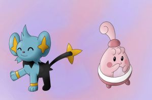 Shinx and Happiny