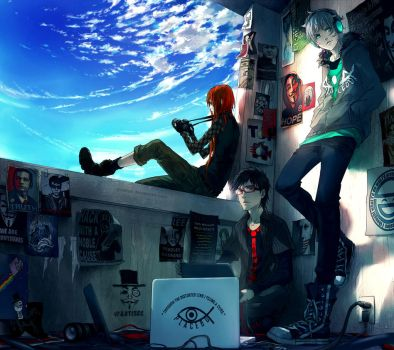 Fisheye Placebo: Cypherpunks by yuumei