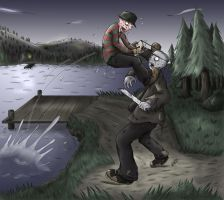 Freddy vs Jason by GakiRules