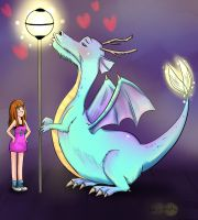 Dragon in love by sigroneta