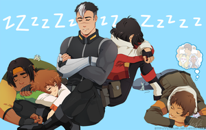 Voltron: Cat Nap by Lanaluu