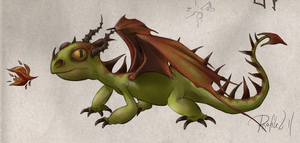 HTTYD Small Dragon by Profiled