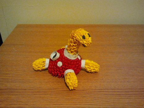 3D Origami Shuckle by pokegami