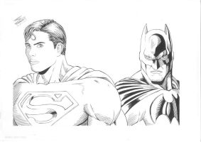 superman and batman made 2009 by SUPERTIAGOF