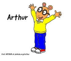 Arthur Read (from Arthur's Coloring Page) by WillM3luvTrains